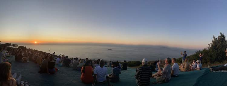 Panorama of the sunset from Signal Hill