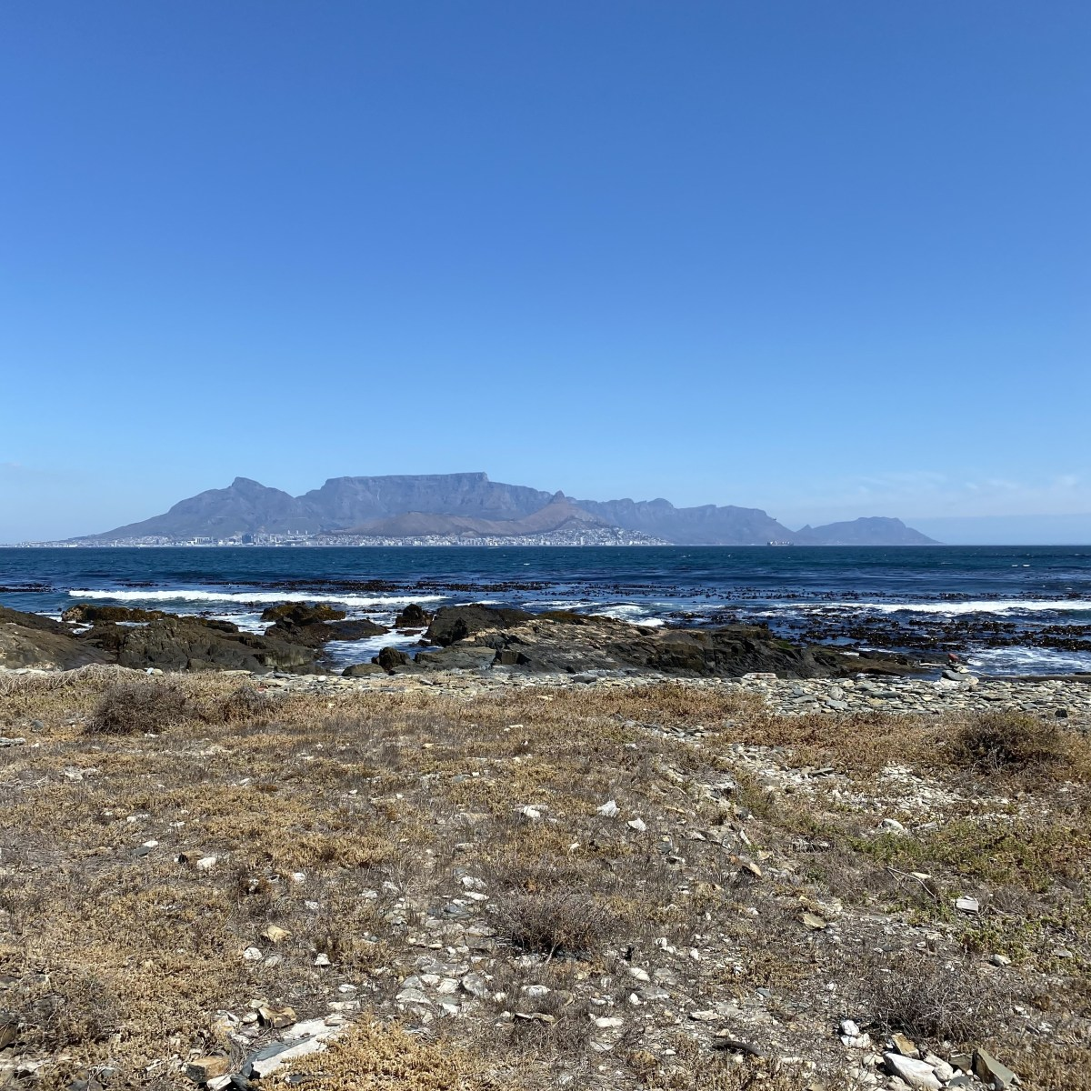 Picture of Cape Town from Robben Island
