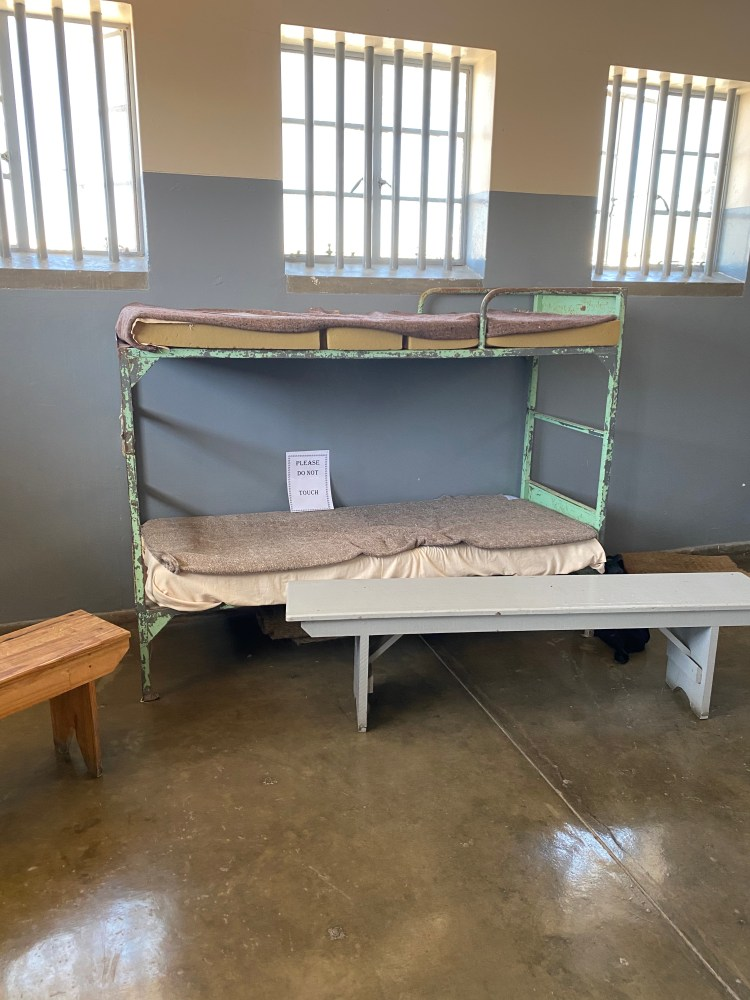A bed in Robben Island prison
