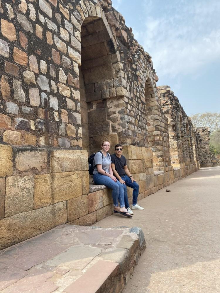 Selfie in Qutub Minar