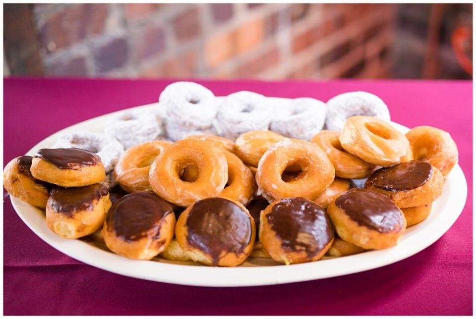donuts from buckeye donuts at wedding