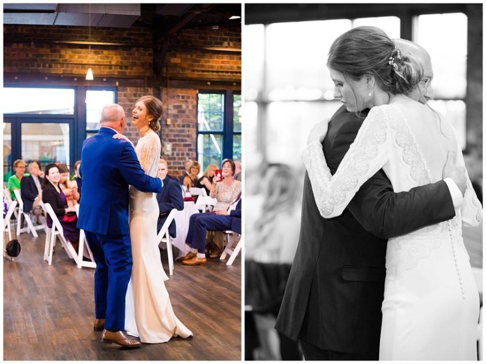 bride and father share dance at dock 580