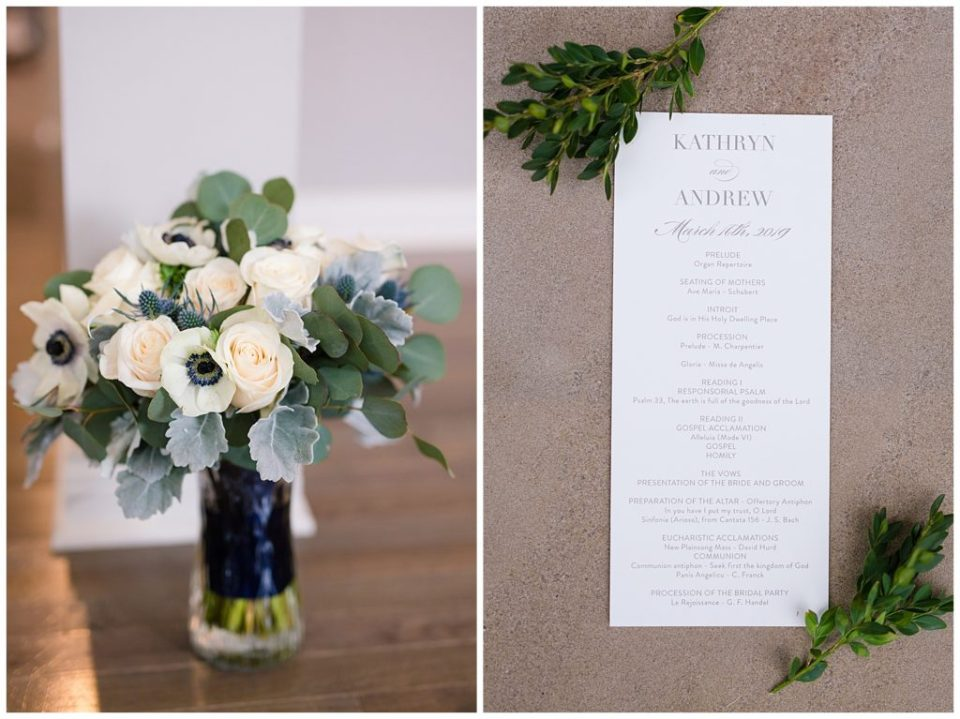 An image of a closeup view of a beautiful flower arrangement at a wedding venue  by Alayna Parker Photography  - Columbus Ohio wedding photographer