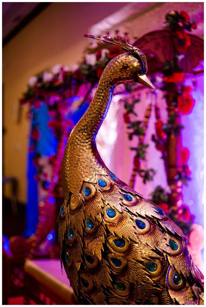 gold peacock decorative statue