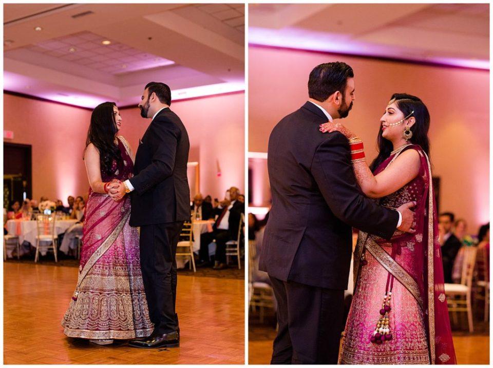 bride and groom share first dance at bertram inn