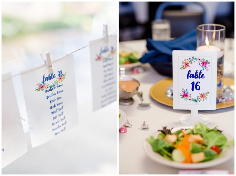 hanging table seating cards