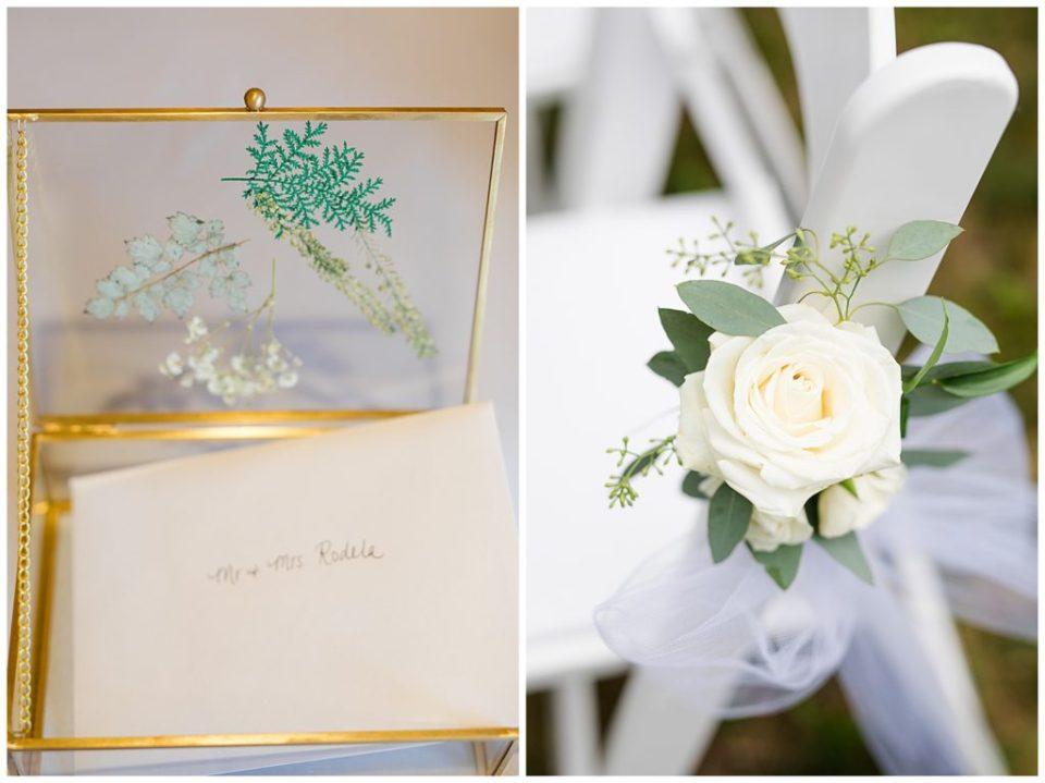 glass box with pressed foliage on top