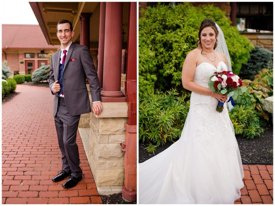bride and groom individual portraits at station 67