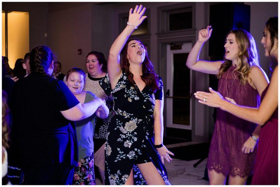 wedding guests dancing at station 67