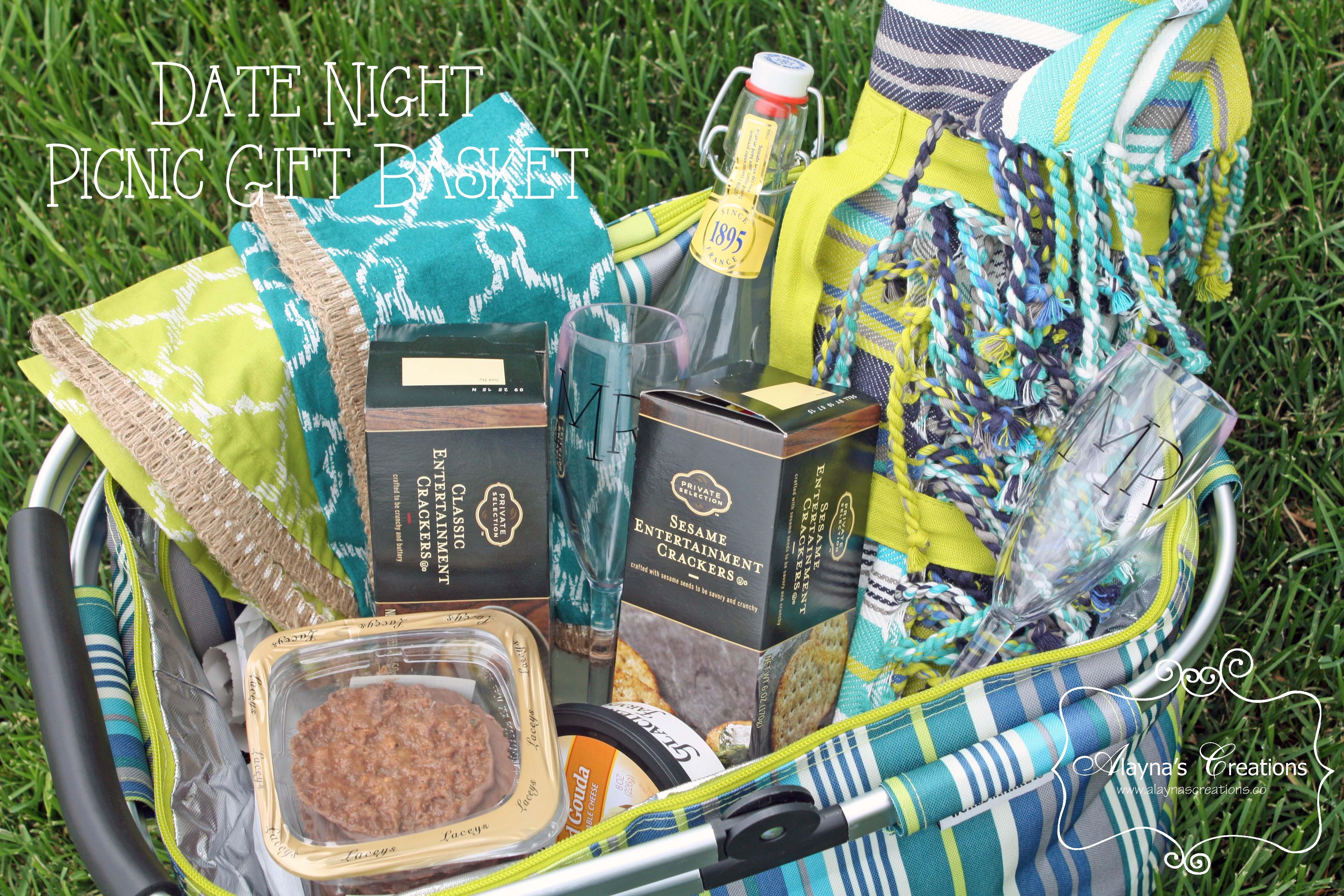 Date Night Picnic Basket Gift
