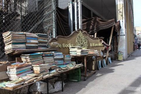 The outside books rack