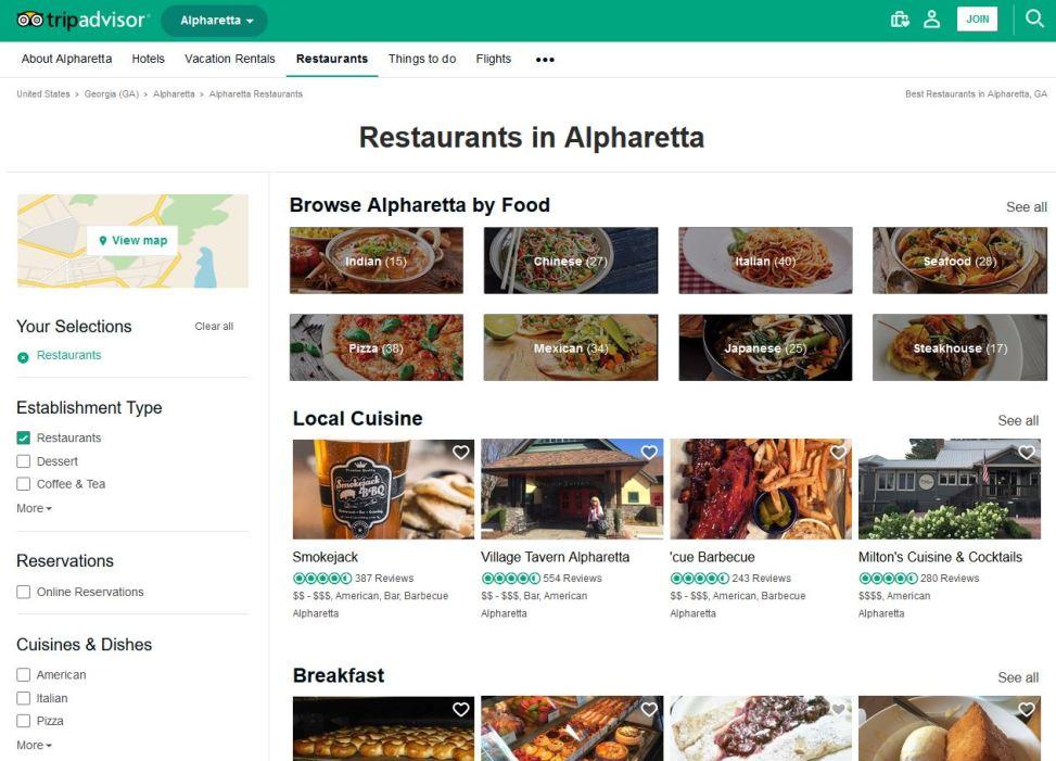 Alpharetta Restaurants Trip Advisor Resource
