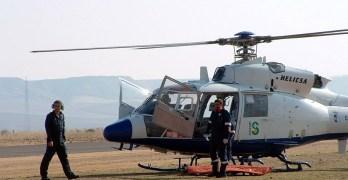 Trasladado en helicóptero al hospital de Albacete el trabajador rescatado en Villaverde de Guadalimar