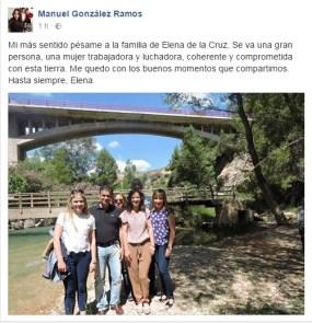 condolencias Elena de la Cruz -Gonzalez Ramos
