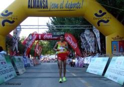 Jaouad Oumellal cruzaba la meta 1 hora y 10 minutos después del inicio de la Media Maratón.
