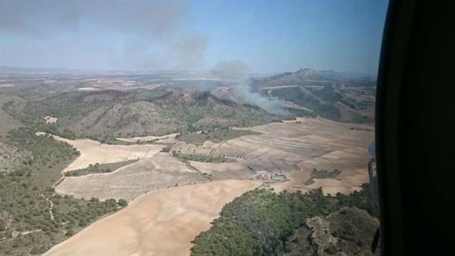 Extinguido el incendio de Hellín en el que ha trabajado más de un centenar de efectivos