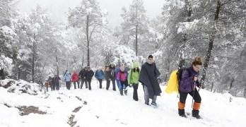 Nieve, agua y viento en las dos nuevas Rutas Senderista de la Diputación Provincial en Alcaraz y Bienservida