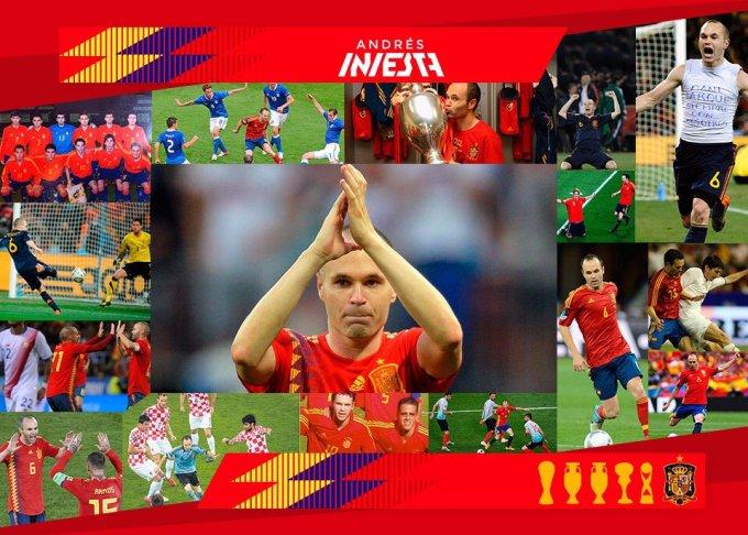 Andrés Iniesta se despide de la Selección Española por carta