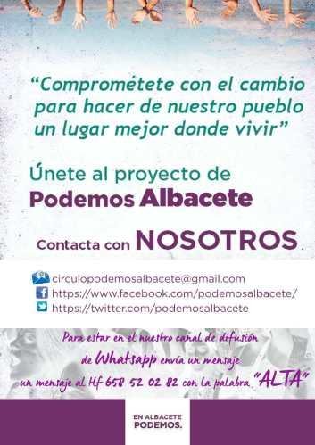 Podemos Albacete abre procesos para renovar la Secretaría General y buscar candidatos a las municipales