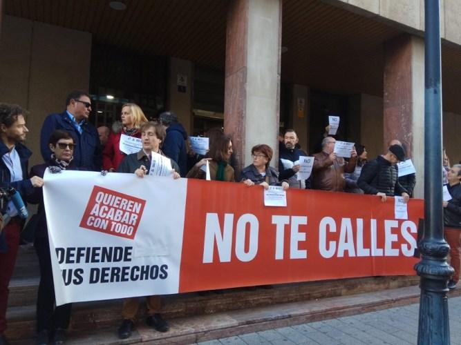 Trabajadores de Justicia de la región se unen a las concentraciones en contra de la reforma de la Ley Orgánica del Poder Judicial
