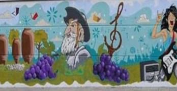 Un grafiti para inmortalizar las señas de identidad de Villarrobledo