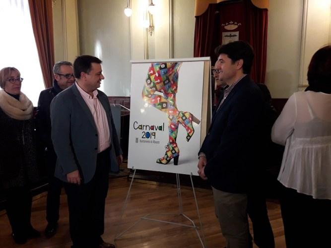 """""""Un guiño a la mujer"""" en el cartel que anunciará el Carnaval de Albacete 2019"""
