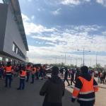 Los miembros del Comité de empresa de Airbus en Albacete salen de su encierro solidario con Puerto Real, amenazado por cierre