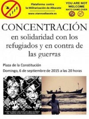 concentracion por los refugiados
