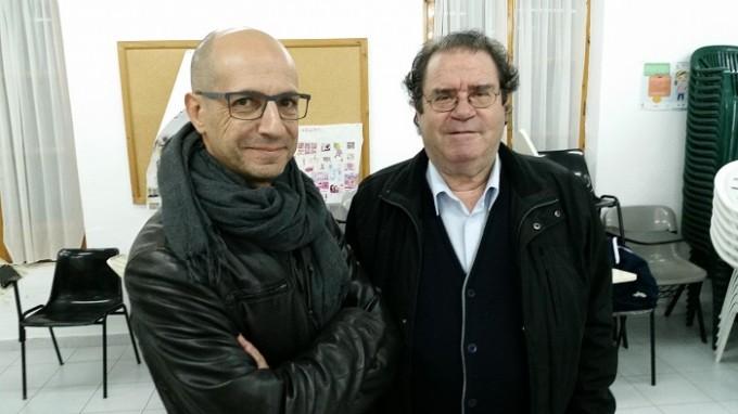 Javier Sánchez y Juan Miguel Rodríguez, ayer en Hellín.