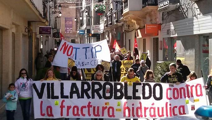 Manifestación Antifracking Villarrobledo