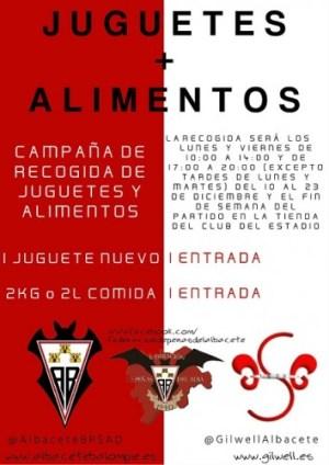 campaña recogida juguetes y alimentos Alba