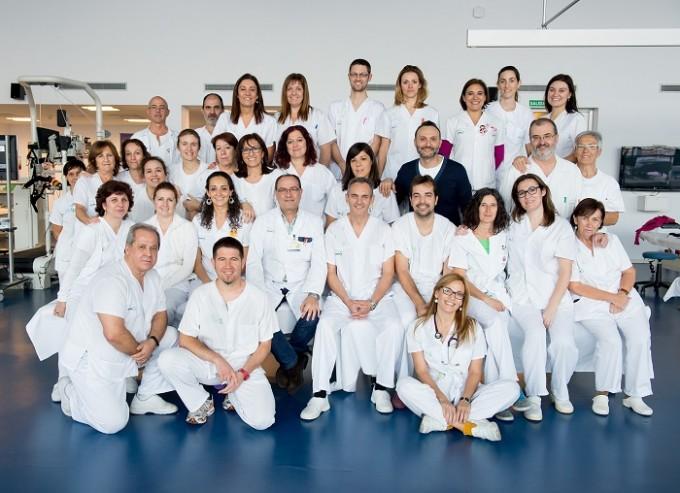 Toledo, diciembre de 2015. Grupo de fisioterapeutas del Hospital Nacional de Parapléjicos. (Foto: Carlos Monroy//SESCAM)