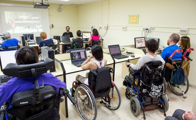 Aula de informática del Hospital Nacional de Parapléjicos