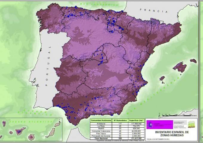 mapa humedales