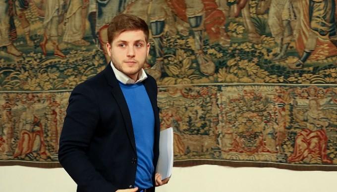Toledo, 10-02-2016.- El portavoz regional, Nacho Hernando, tras informar sobre los acuerdos del Consejo de Gobierno, en el Palacio de Fuensalida de Toledo. (Álvaro Ruiz // JCCM)