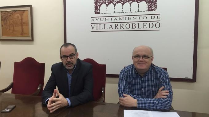 Fotografía de la rueda de prensa de Presupuestos de la Junta en Villarrobledo