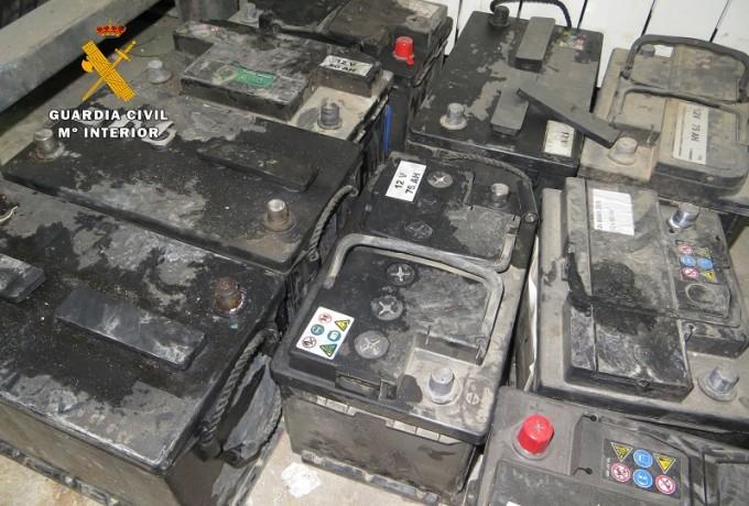foto baterías robadas