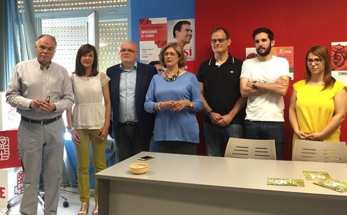 FOTOGRAFIA DE LA RUEDA DE PRENSA- PSOE ALMANSA 1