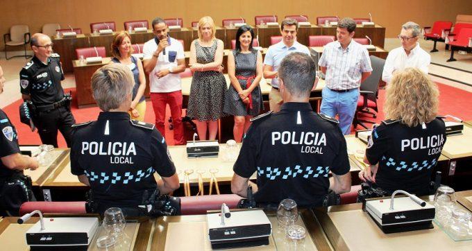 Foto.Recepción policías locales participantes en Juegos Europeos 2016 (1)