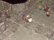 Vorrücken in die Mine