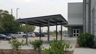 Commercial Solar Panel Carport Katy Texas