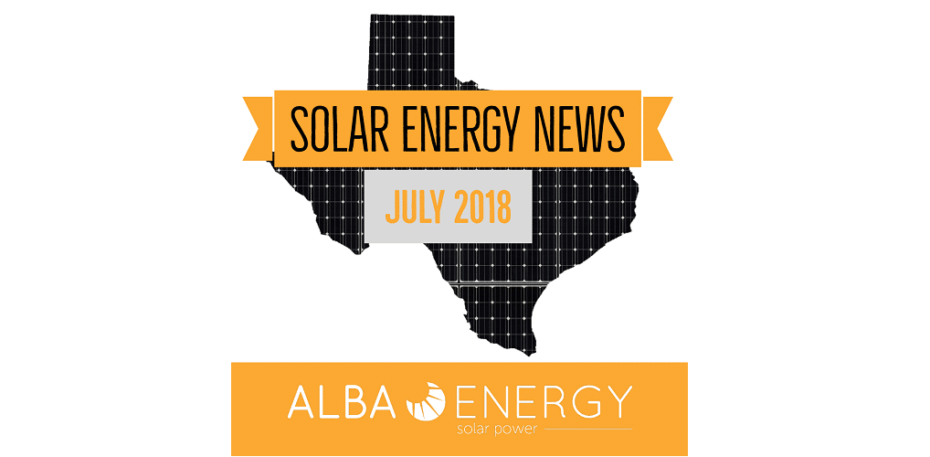 Texas Solar Energy News – July Edition