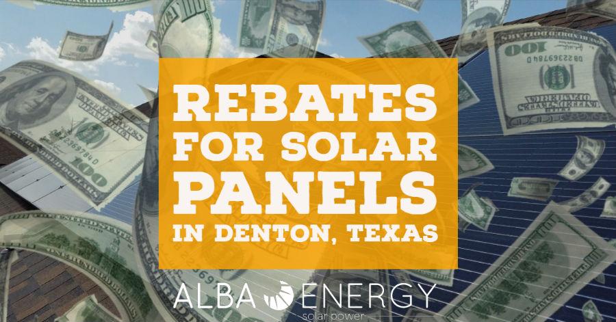 Denton Texas Solar Rebate Program
