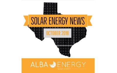 Texas Solar Energy News – October Edition