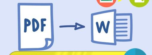 أفضل الحلول في تحويل ملفات PDF الي Word وتحويل صور الي Text