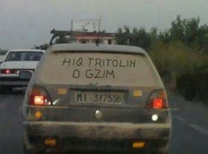 In this photo published in Facebook, reads: Remove Tritol man!