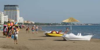 Tourismus hat Potential: Am Strand von Durrës