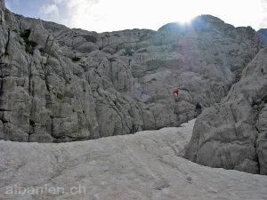 Schnee im Hochsommer, Albanische Alpen, Albanien
