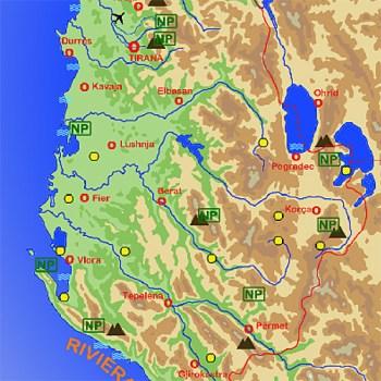 Karte Sehenswürdigkeiten Albanien