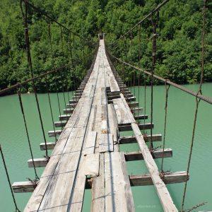 Hängebrücke in Albanien